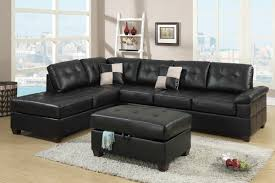 Sofa Set Poundex F7358 2 Pcs Bonded Leather Sectional Sofa Set