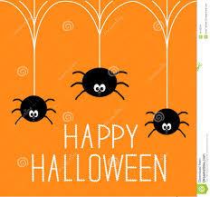 halloween spiders three hanging spiders happy halloween card stock image image