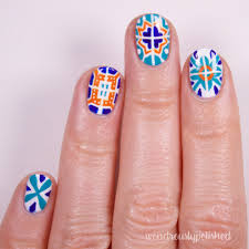 wondrously polished nail art talavera mexican tiles
