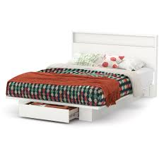 Queen Platform Bed With Storage And Headboard South Shore Holland Full Queen Platform Bed With Drawer Multiple