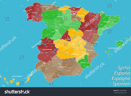 Map Of Spain by Map Spain Stock Vector 176629508 Shutterstock