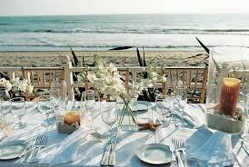 Wedding Reception Table Centerpieces Seaside Wedding In California With Beach Themed Décor Inside
