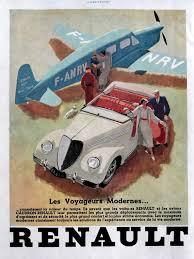 renault vintage art deco poster original color advert by oldmag
