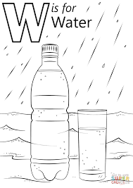 letter w is for water coloring page free printable coloring pages