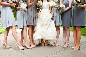 Light Gray Bridesmaid Dress What Kind Of Shoes Should I Use For Light Gray Bridesmaid Dresses