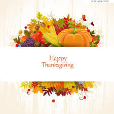 4 designer fall thanksgiving card vector material
