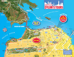 San Francisco Sightseeing Map by The Original City Loop Tour Dylan U0027s Tours
