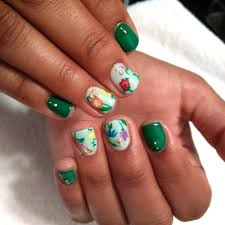 accent nail art in gel on natural nail yelp