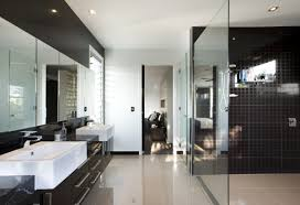 black and white bathroom designs modern luxury bathroom design with chandelier and bathtub hupehome