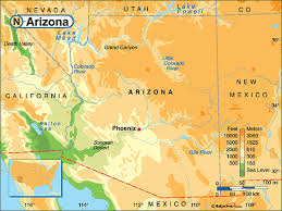 colorado physical map arizona physical map by maps from maps world s largest