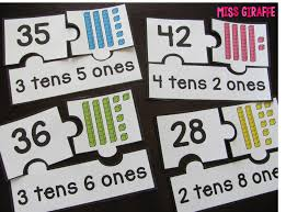 place value game where students roll the dice to make the base 10