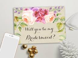will you be my bridesmaid invitation will you be my bridesmaid card printable of honor matron