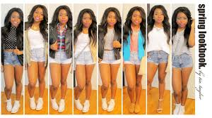 spring lookbook style high waisted shorts youtube