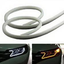 how to install led lights in car headlights audi style switchback white amber led strips for headlights retrofit