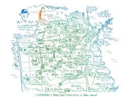 Map San Francisco by San Francisco Culture Map Print Presented By Alden Olmsted And