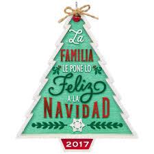 nuestra familia nuestra navidad ornament keepsake ornaments