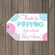ready to pop baby shower tags baby shower favor tags thank