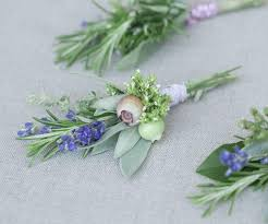 boutonnieres for wedding diy herbal wedding boutonnieres once wed
