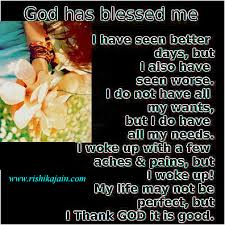 god has blessed me inspirational quotes inspirational quotes