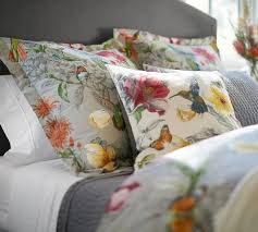 Pottery Barn Comforters Hummingbird Reversible Duvet Cover U0026 Shams Pottery Barn Home