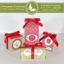 christmas boxes christmas party favors gift boxes shery k designs