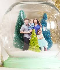 a kailo chic craft it a family portrait snow globe