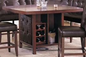 dining table with wine storage pub table with wine storage acme britney counter height dining