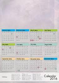 design haven calendar 2016 r2 template a3 portrait