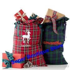 santa sacks 2017 new style plaid santa sack christmas santa sacks for kids candy