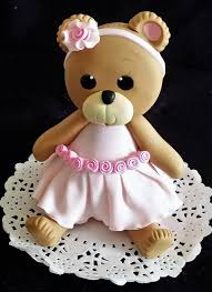 teddy decorations cake topper teddy baby shower pink cake topper
