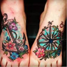 25 nautical foot tattoos ideas