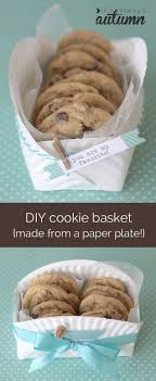 cookie basket how to turn an ordinary paper plate into a cookie basket