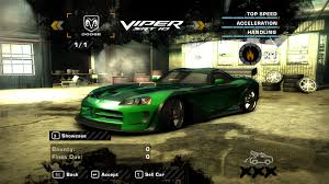 Dodge Viper Top Speed - need for speed most wanted save file with jv u0027s dodge viper 0 you