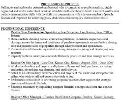 real estate agent resume example real estate agent resume example