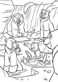 brother bear koda u0027s mother denahi fight coloring pages