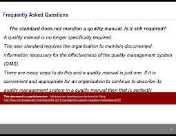 iso 9001 2015 management system transition masterclass powerpoint