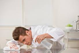Cleaning Table Stock Images Royalty by Attractive Male Cleaning Table Stock Photography Image 10322512