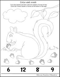 fall preschool worksheets fall season acorn song and math