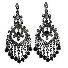 black chandelier earrings zspmed of black chandelier earrings vintage for designing home