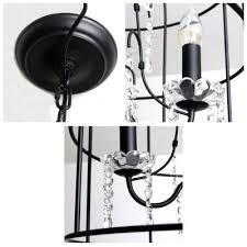 Beaded Pendant Light Shade Black Cage Pendant Lighting Wire Light Rustic Hanging Lamp Shade