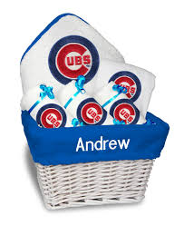 chicago gift baskets personalized chicago cubs medium gift basket mlb baby gift