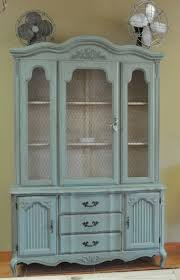 Decoupage Kitchen Cabinets China Cabinet Chalk Paint Hutch Using Cobalt Blue Kitchen China