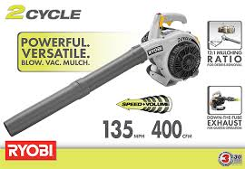 Blower Vaccum Ryobi 150 Mph 400 Cfm 26cc Gas Leaf Blower Vacuum Ry09056 The