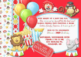 11 marvelous circus birthday party invitations theruntime com