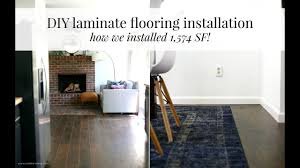Installing Laminate Flooring With Attached Underlayment Laminate Flooring Install Youtube