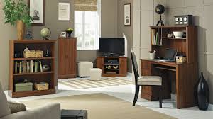 Living Room Computer Desk Furniture Chic Tv Stand And Desk Plus Wooden Cabinet By Sauder