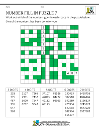 number fill in puzzles
