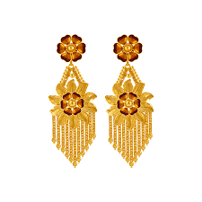 gold erring 22kt yellow gold earring gold earrings online for women p c