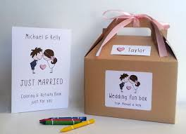 wedding favors for kids wedding coloring book and box kids wedding favor box kids
