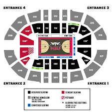 United Center Seating Map The Official Website Of Northern Illinois Athletics